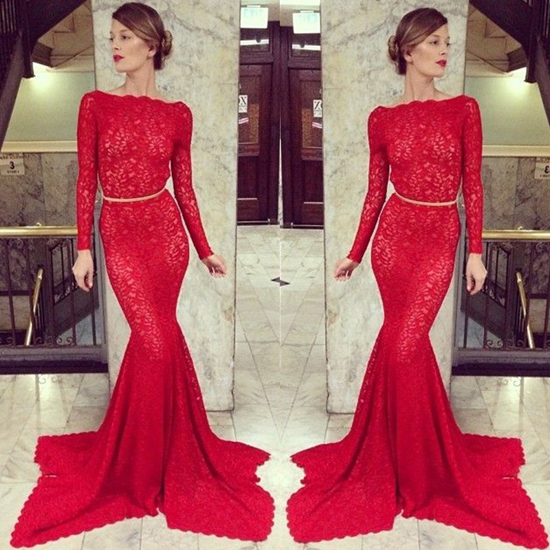 Prom Dress,Long Sleeve Prom Dress,Backless Prom Dress,Mermaid Prom ...