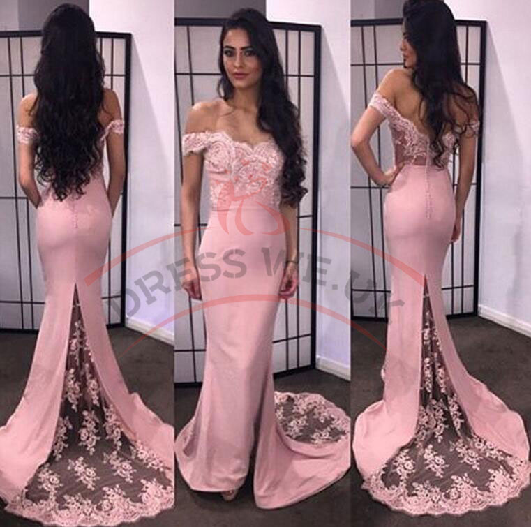 8766755d31 Elegant Sweetheart Prom Dresses,Pink Tight Dresses,Off-The-Shoulder  Appliques Prom